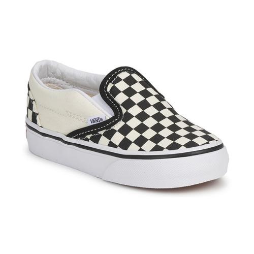 kengät Lapset Tennarit Vans CLASSIC SLIP ON KIDS Black / White