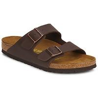 kengät Miehet Sandaalit Birkenstock ARIZONA LARGE FIT Ruskea / Fonce
