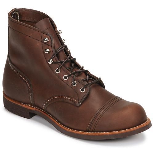 kengät Miehet Bootsit Red Wing IRON RANGER Brown