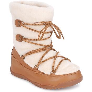 kengät Naiset Talvisaappaat FitFlop SUPERBLZZ BEIGE / Brown