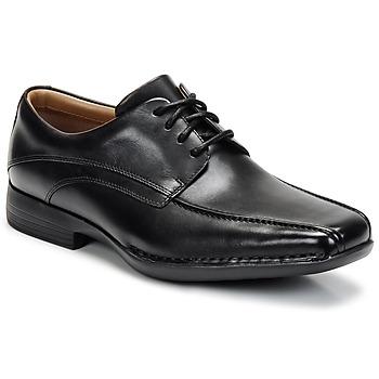 kengät Miehet Derby-kengät Clarks FRANCIS Black