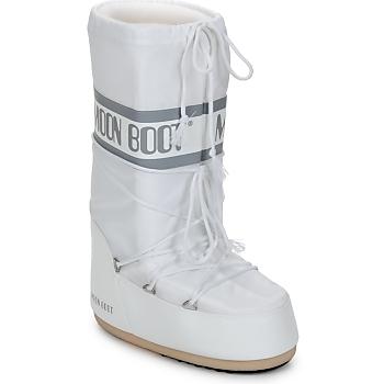 kengät Naiset Talvisaappaat Moon Boot CLASSIC White / Hopea