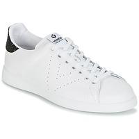 kengät Naiset Matalavartiset tennarit Victoria DEPORTIVO BASKET PIEL Valkoinen / Musta