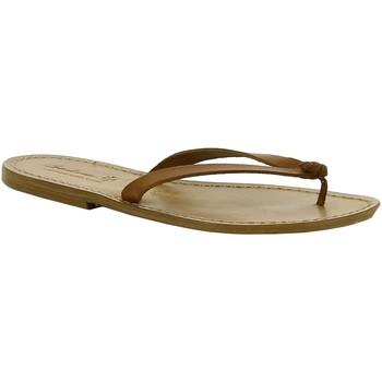kengät Naiset Sandaalit Gianluca - L'artigiano Del Cuoio 540 D CUOIO CUOIO Cuoio