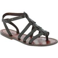 kengät Miehet Sandaalit ja avokkaat Gianluca - L'artigiano Del Cuoio 505 D MORO CUOIO Testa di Moro