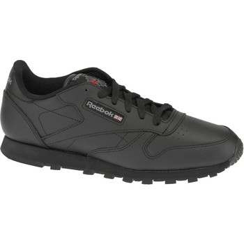 kengät Pojat Matalavartiset tennarit Reebok Sport Classic Leather  50149 Black