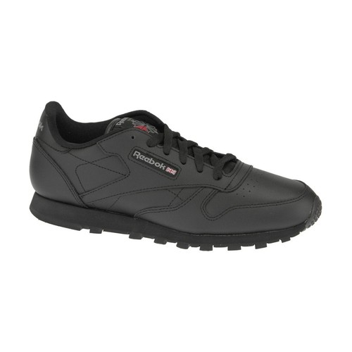kengät Pojat Matalavartiset tennarit Reebok Sport Classic Leather  50149 Black