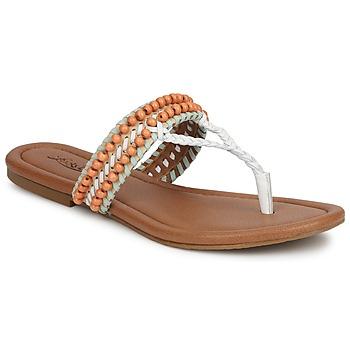 kengät Naiset Sandaalit ja avokkaat Lucky Brand DOLLIS Nude / Valkoinen  / Musta/indian magenta