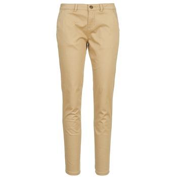 vaatteet Naiset Chino-housut / Porkkanahousut Casual Attitude DOMINO BEIGE