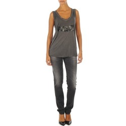 vaatteet Naiset Slim-farkut Diesel GETLEGG L.32 TROUSERS Grey
