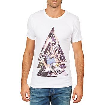 vaatteet Miehet Lyhythihainen t-paita Eleven Paris BERLIN M MEN White