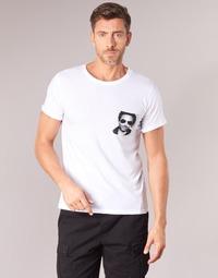 vaatteet Miehet Lyhythihainen t-paita Eleven Paris LENNYPOCK MEN White