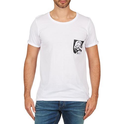 vaatteet Miehet Lyhythihainen t-paita Eleven Paris MARYLINPOCK MEN White