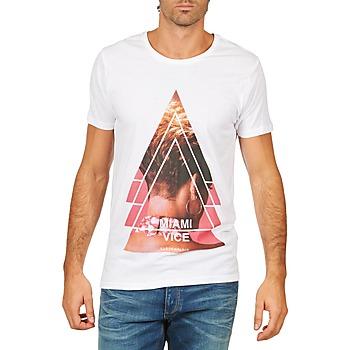 vaatteet Miehet Lyhythihainen t-paita Eleven Paris MIAMI M MEN White