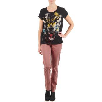 vaatteet Naiset Chino-housut / Porkkanahousut Eleven Paris PANDORE WOMEN Pink