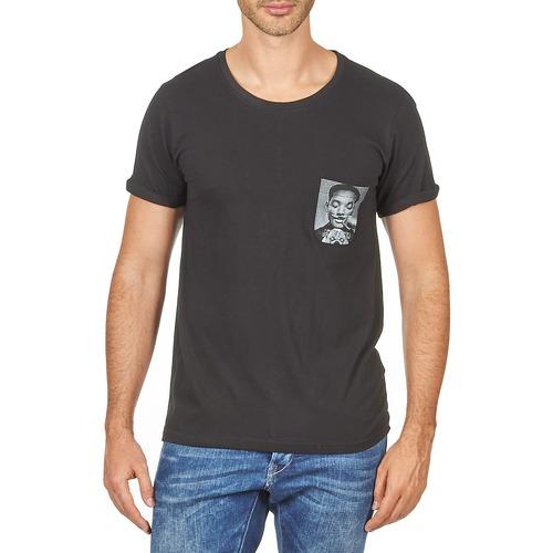 vaatteet Miehet Lyhythihainen t-paita Eleven Paris WOLYPOCK MEN Black