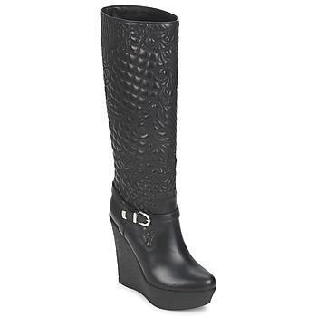 kengät Naiset Saappaat Versace DSL909R Black