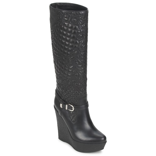 kengät Naiset Saappaat Versace DSL909R Musta