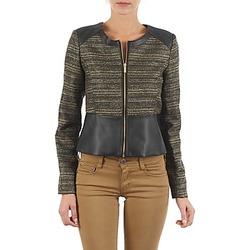 vaatteet Naiset Takit / Bleiserit Manoukian QUEELT Black / Kulta