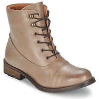 kengät Naiset Bootsit Pieces SENIDA LEATHER BOOT TAUPE