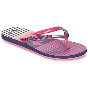 kengät Tytöt Varvassandaalit Roxy RG PEBBLES V G SNDL PST Pink / Raidallinen