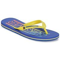 kengät Miehet Varvassandaalit Quiksilver MOLOKAI WORDMARK Blue / Yellow