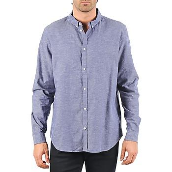 vaatteet Miehet Pitkähihainen paitapusero Cheap Monday DAMON BD SHIRT Blue