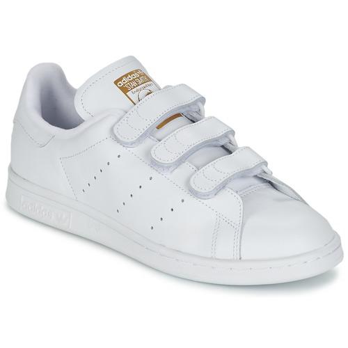 kengät Matalavartiset tennarit adidas Originals STAN SMITH CF White