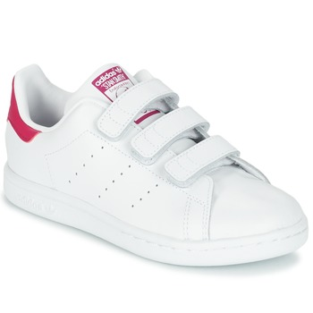 kengät Tytöt Matalavartiset tennarit adidas Originals STAN SMITH CF I White / Pink