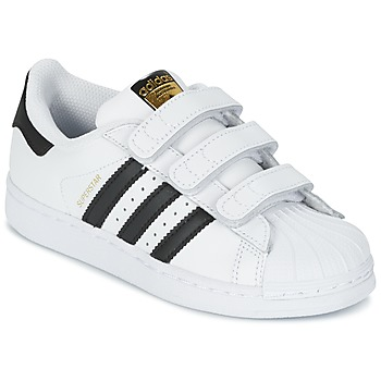 kengät Lapset Matalavartiset tennarit adidas Originals SUPERSTAR FOUNDATIO White / Black