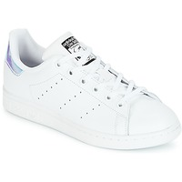 kengät Tytöt Matalavartiset tennarit adidas Originals STAN SMITH J White