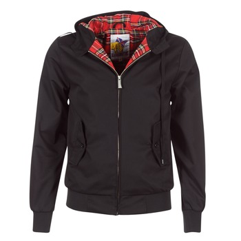 vaatteet Miehet Pusakka Harrington HARRINGTON HOODED Black
