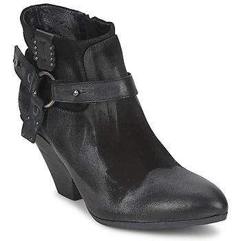 kengät Naiset Nilkkurit Strategia SANGLA Black / Hopea