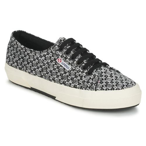 kengät Naiset Matalavartiset tennarit Superga 2750 FANTASY Black / White