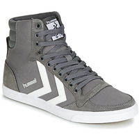 kengät Korkeavartiset tennarit Hummel TEN STAR HIGH Grey / White