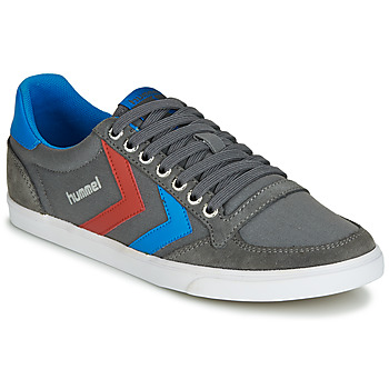 kengät Miehet Matalavartiset tennarit Hummel TEN STAR LOW CANVAS Grey / Blue / Red