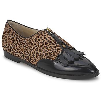 kengät Naiset Derby-kengät Etro EBE Black / Beige