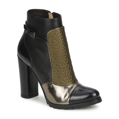kengät Naiset Nilkkurit Etro FEDRA Black / Kaki / Hopea
