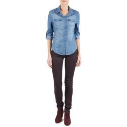 vaatteet Naiset Slim-farkut Replay LUZ Violet