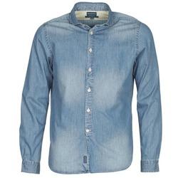 vaatteet Miehet Pitkähihainen paitapusero Façonnable PLUSAMO Blue