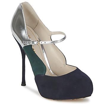 kengät Naiset Korkokengät John Galliano AO2179 Black / Grey