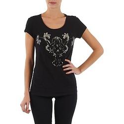 vaatteet Naiset Lyhythihainen t-paita S.Oliver T-SHIRT MANCHES COUR Black
