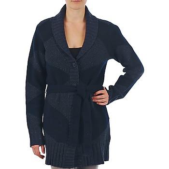 vaatteet Naiset Neuleet / Villatakit Gant N.Y. DIAMOND SHAWL COLLAR CARDIGAN Laivastonsininen