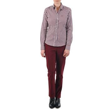 vaatteet Naiset Chino-housut / Porkkanahousut Gant C. COIN POCKET CHINO Viininpunainen