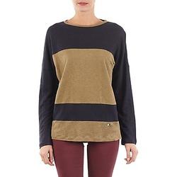 vaatteet Naiset T-paidat pitkillä hihoilla TBS POOL Blue / BEIGE