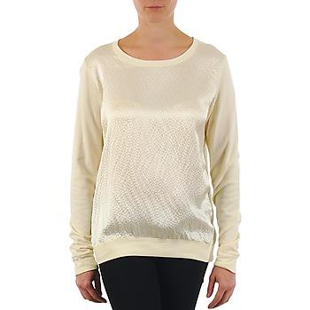 vaatteet Naiset T-paidat pitkillä hihoilla Majestic 237 Ecru