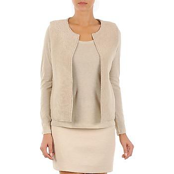 vaatteet Naiset Neuleet / Villatakit Majestic 241 Beige