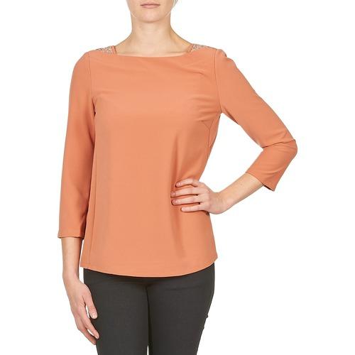 vaatteet Naiset T-paidat pitkillä hihoilla Color Block 3214723 Corail