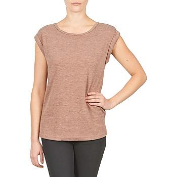 vaatteet Naiset Lyhythihainen t-paita Color Block 3203417 Pink / Grey