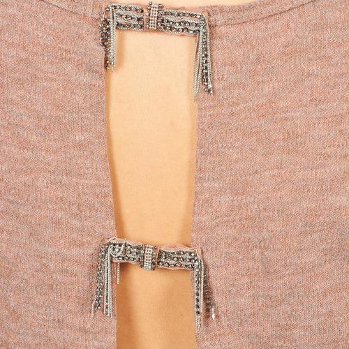Color Block 3203417 Pink / Grey - Ilmainen Toimitus- Vaatteet Lyhythihainen T-paita Naiset 24
